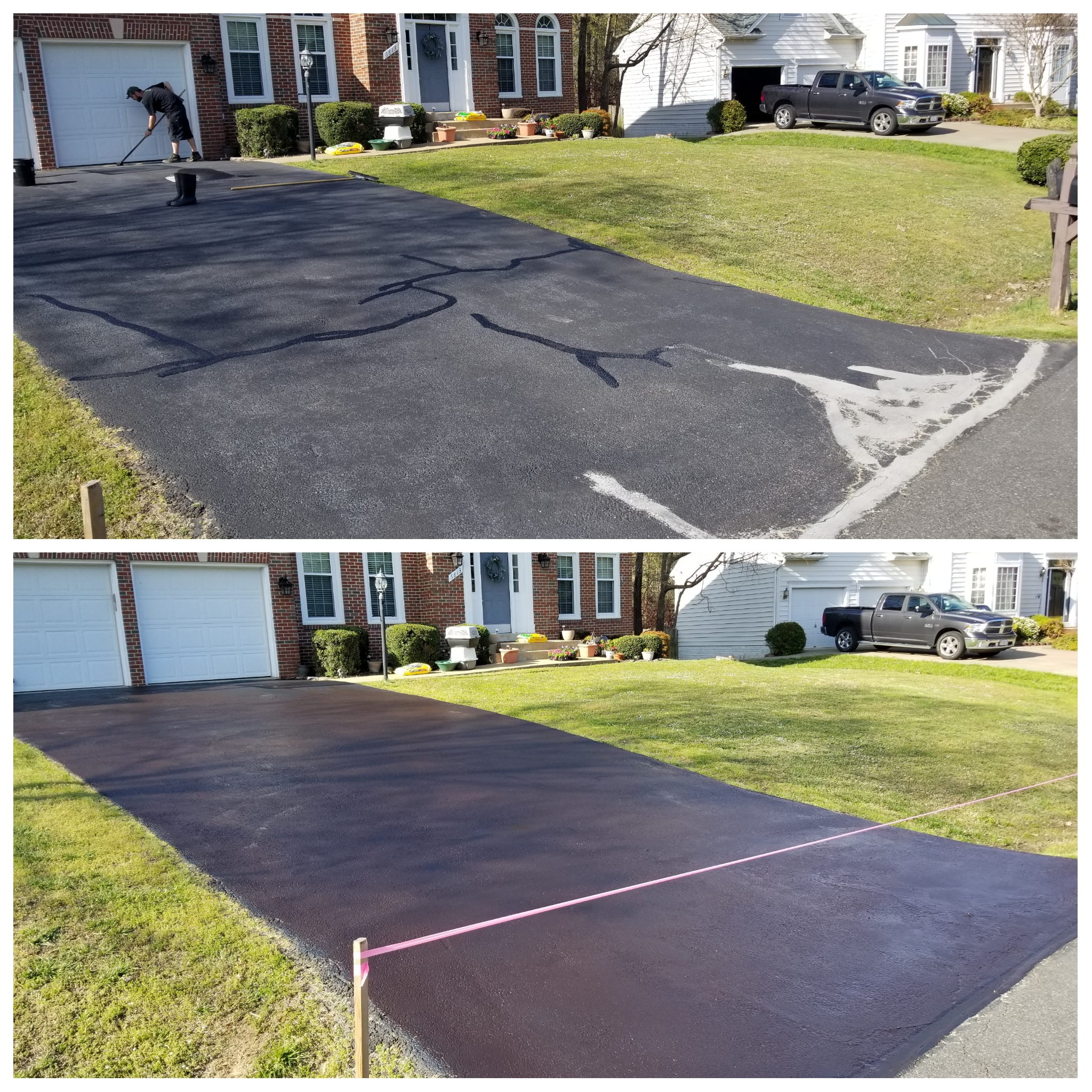 Sealcoating Driveways by Hand